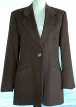 Pietrafesa Loro Piana Long Sleeve Brown Jacket 100% Camel Hair Blazer 12... - $92.76 CAD