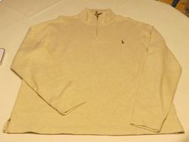 Polo Ralph Lauren 1/4 Jersey Cremallera L/S CAMISETA XXL Estate Canalé Hombres - $98.98