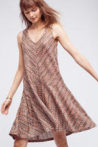 NWT ANTHROPOLOGIE WESTWATER CHEVRON KNIT BROWN DRESS by MAEVE M - $66.49