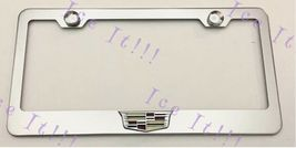 For Cadillac Crest 3D Emblem Black Stainless Steel License Plate Frame Rust Free - $18.32