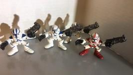 Star Wars Galactic Heroes Clone Troopers Blue And Red Trooper Loose - $9.89