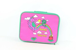 Vintage 90s Barney & Baby Bop Small Kids Luggage Bag Travel Carry On Sui... - $39.55