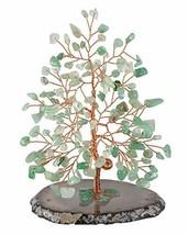 Top Plaza Green Aventurine Chakra Healing Crystals Copper Money Tree Wra... - $27.45