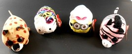Teeny Ty's lot of 4 - 3 with Ty Tags Hello Kitty Leopard Minion Pennie Kenny - $19.79