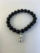 New Avon Beaded Trick or Treat Stretch Charm Bracelet W/Skull (1638) - $10.00