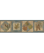 Seminole Navy Greenleaf Wallpaper Border Chesapeake TLL01582B - $20.99