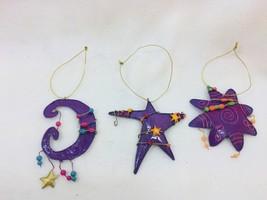 Encore Group Metal Christmas Ornaments Stars Beaded 25663 - $11.72