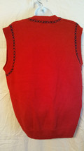 Jantzen Sweater Vest Women Size S/P  Hand Embroidered Classics  Red   NWT image 2
