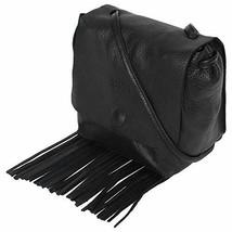 Leather Fringe Purse and Handbag - Boho Crossbody Purses for Women with ... - $64.01