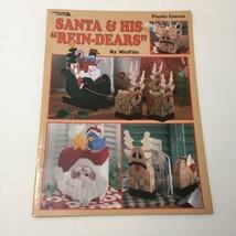 Santa & His Rein-Dears Plastic Canvas Pattern Book Leisure Arts - $9.74