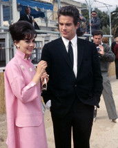 Natalie Wood, Warren Beatty Posing for Photographers 1963 16x20 Canvas - $69.99