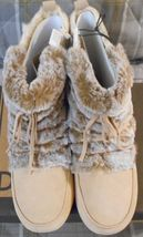 LUCKY BRAND -Awesome Ladies Boots - size 9M - camel/light tan fur - new  - $19.99