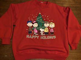 Vintage Tultex Peanuts Snoopy Holiday Xmas Season Sweatshirt Size Large NWOT image 5