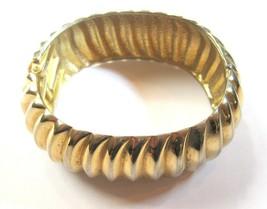 Vintage Sculpted Swirl Gold Tone Bangle Bracelet - $14.25