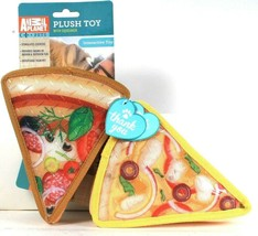 2 Count Animal Planet Pets Pizza Slice Interactive Stuffed Toy With Sque... - $23.99