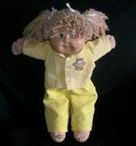 Vintage de Long Blond Chou Patch Enfants Bébé Poupée Fille Peluche Anima... - $32.38
