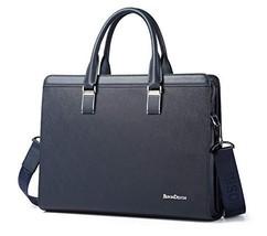 BISON DENIM Genuine Leather Briefcase Laptop Messenger Bag Work Bags Business Ha