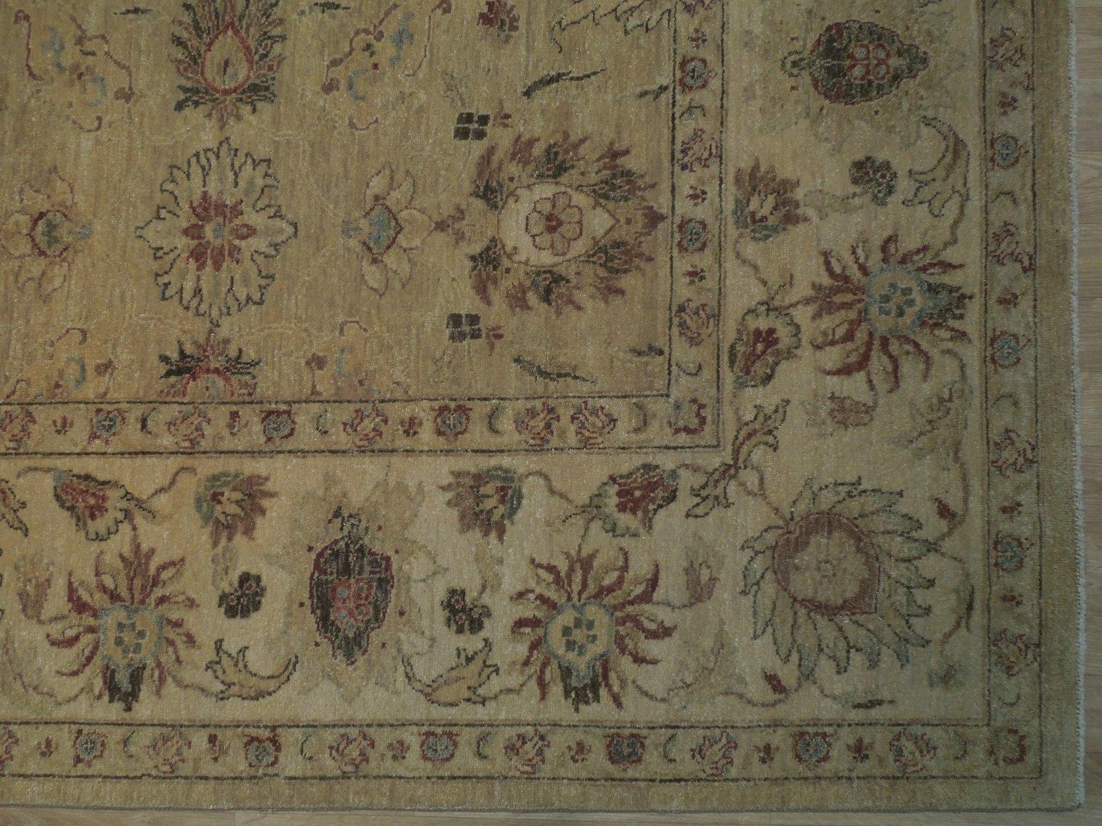 Honey Gold Wool Carpet 9' x 12' New Original Ziglar Oushak Hand-Knotted Rug image 7