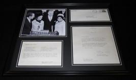 Spiro & Judy Agnew 16x20 Framed 1973 Crab Imperial Recipe & Photo Display - $123.74