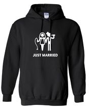 Just Married Funny ,Hoodie,80% Cotton,20%polyester Men's, Women, Kids - $29.99