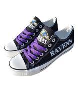 ravens shoe women sneakers mens fashion ravens tennis shoe custom baltim... - $59.99