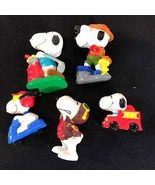 Vintage Lot 5 Peanuts doll- SNOOPY aventures United Feature Syndicate  - $20.29