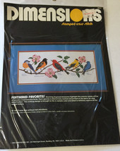 "Vintage Dimensions 18"" x 8"" Feathered Favorites Stamped Cross Stitch Birds - $29.44"