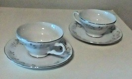 Sheffield Fine China Coffee Tea Cups Saucers Classic 501 Pattern Pair - $11.76