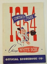 1954 Chicago White Sox Baseball Scorecard v Cleveland Indians scored - $9.89