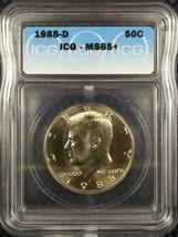 1988-D 50C JFK Kennedy Half Dollar MS65+ ICG Certified Gem Brilliant UNC+ - $15.49