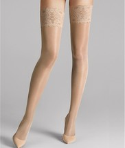 Wolford COSMETIC Satin Touch 20 Denier Evening Thigh Highs, US Large - $23.27