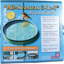 Farm Innovators Green All Seasons 3-in-1 Heated Birdbath 75 Watt - $66.17