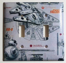 Star Wars Millennium Falcon BB8 BB-8 Switch Outlet wall Cover Plate Home Decor image 8