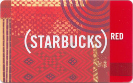 Starbucks 2009 Red Tapestry Collectible Gift Card New No Value - $9.99
