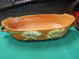 Beautiful Vintage Roseville Art Pottery Usa Console Double Handle - $114.43