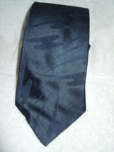 The Men's Store Solid Black Swirl Design Polyester Tie - $3.99
