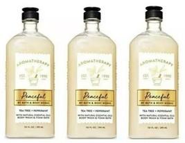 X 3 ~ Bath&Body Works Aromaterapia Pacífica Árbol Té y Menta Gel de Baño... - $28.61