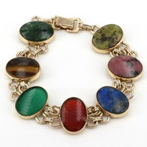 "Vintage WE Richards Signed WRE Gold-Filled Multi-Stone Bracelet ""AS IS"" ... - $19.99"