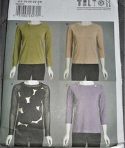 Pattern Vogue Designer Pullover Top Fitted March Tilton V8636 Uncut - $14.35
