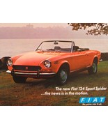 1970 Fiat 124 Sport Spider Brochure Sheet, Original 70 - $5.37