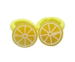 Hair Accessories Hair Tie Bands Ropes for Baby Girls, 5 pairs (Lemon Piece) image 2