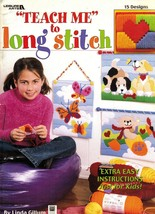 Plastic Canvas Teach Me To Long Stitch Beginners Pattern Instruction Book - $12.99