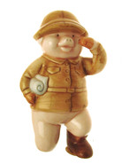 Danbury Mint 9.5cm in height pig figurine Piggies collection Snout of Af... - $23.35