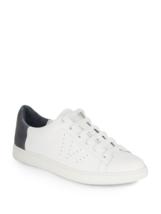 Vince Varin leather Sneaker 9 M Women, NIB, white / denim - $124.79