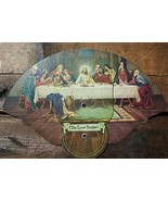 Funeral Morticians Advertising Fan L. Heroux & Son RI Last Supper Graphi... - $14.99