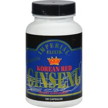 Imperial Elixir Korean Red Ginseng - 300 mg each - 100 Capsules - $37.99