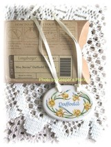 Longaberger Porcelain Daffodil Basket Tie On 2008 May Series New In Box Retired - $14.00