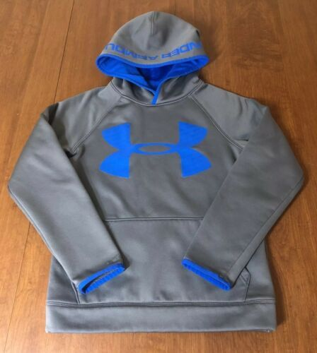 NWT UNDER ARMOUR BOYS BIG LOGO STORM FLEECE HOODIE SWEATSHIRT SZ YXL YOUTH XL