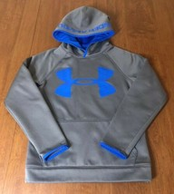 MINT Under Armour STORM 1 Fleece Lined Hoodie HEAVY Youth Medium M Gray ... - $14.50