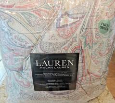 RALPH LAUREN Queen Comforter Set 3PC TAN PAISLEY GREEN YELLOW BLUE RED F... - $136.57